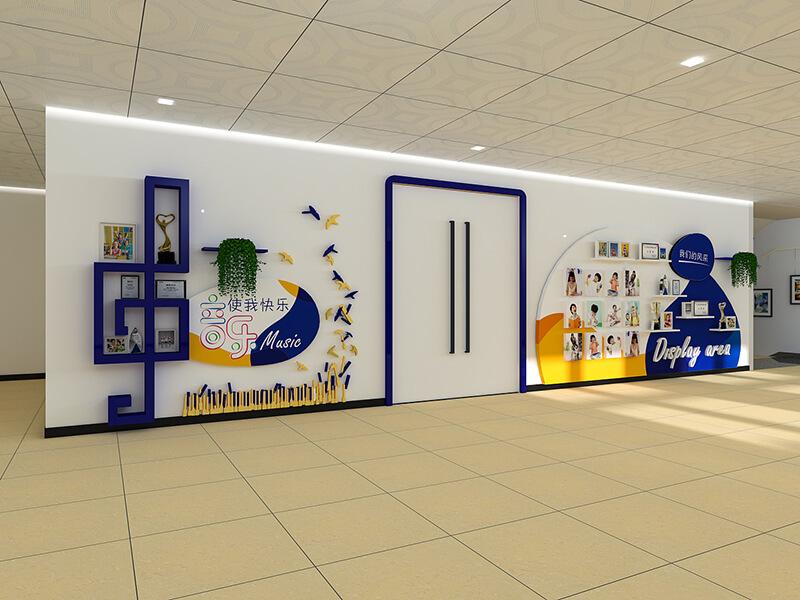 深圳打造校园文化墙设计,美化校园制作馆灯场光运动图片